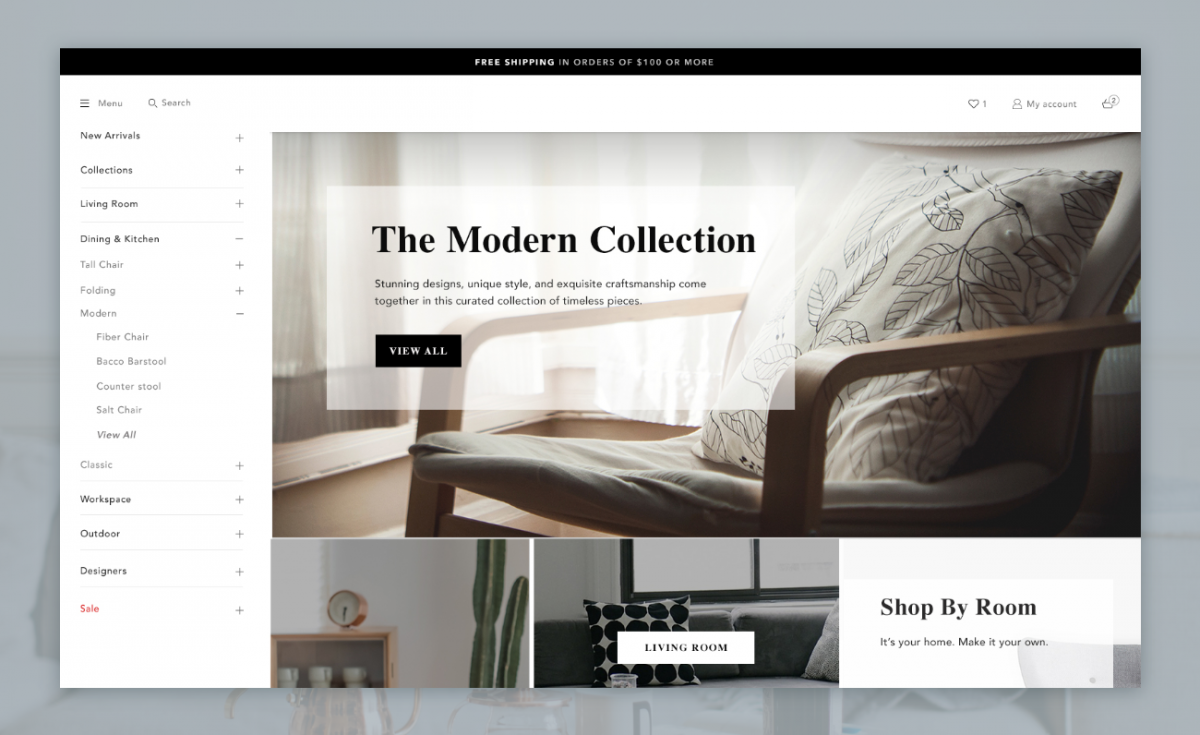 Modern ecommerce design for your business