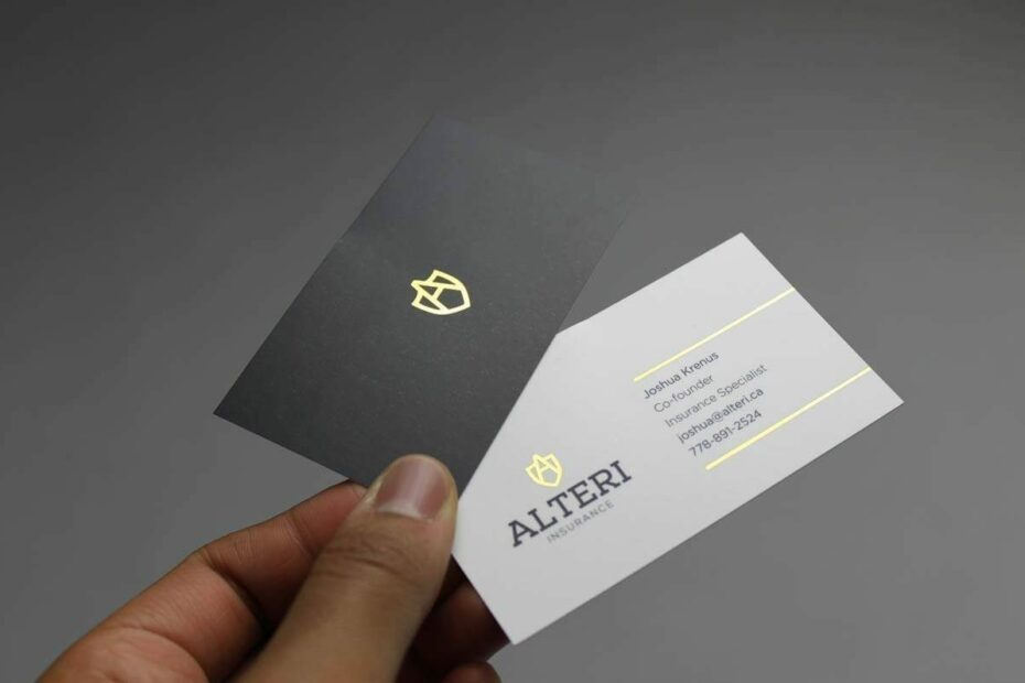 Let your business cards start a conversation