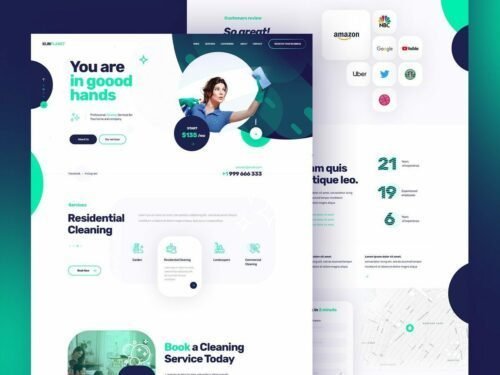Modern web design for cleaning company