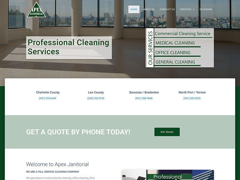 Contemporary web design for Apex Jan