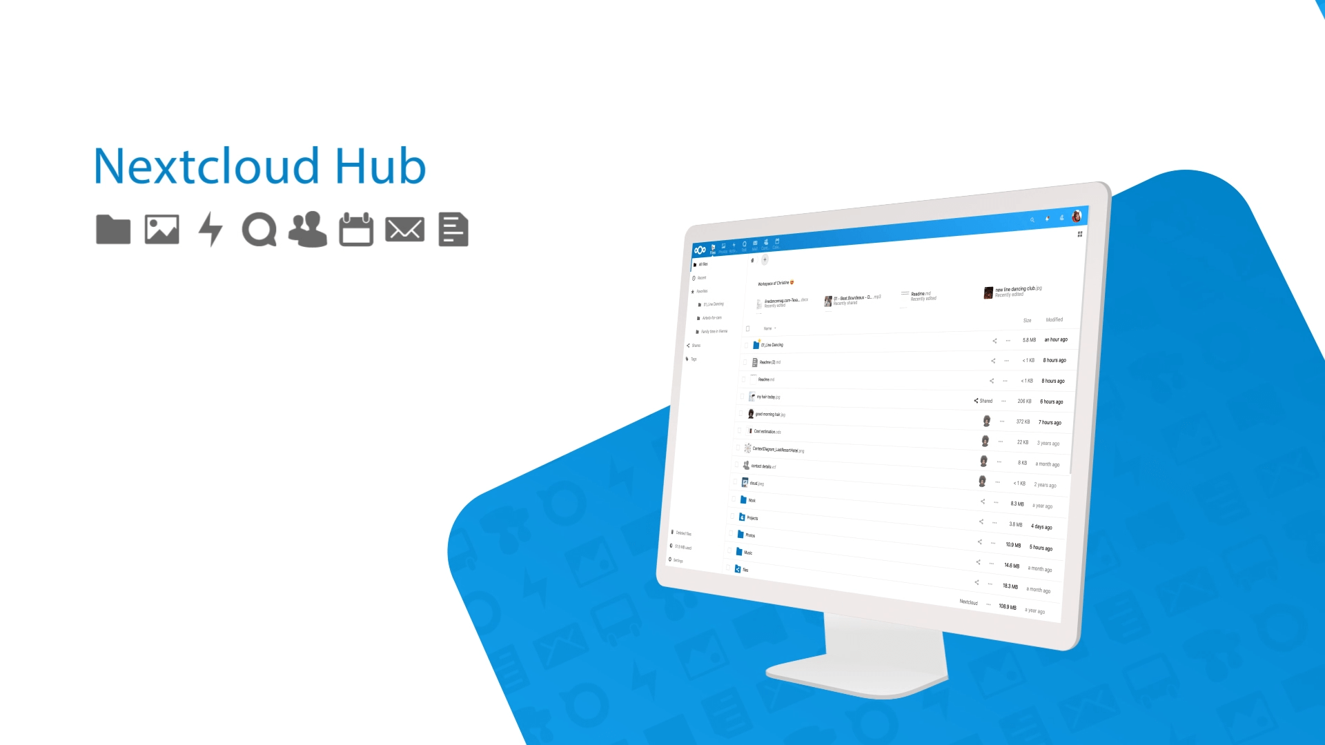 Cloud services for file sharing; Next Cloud