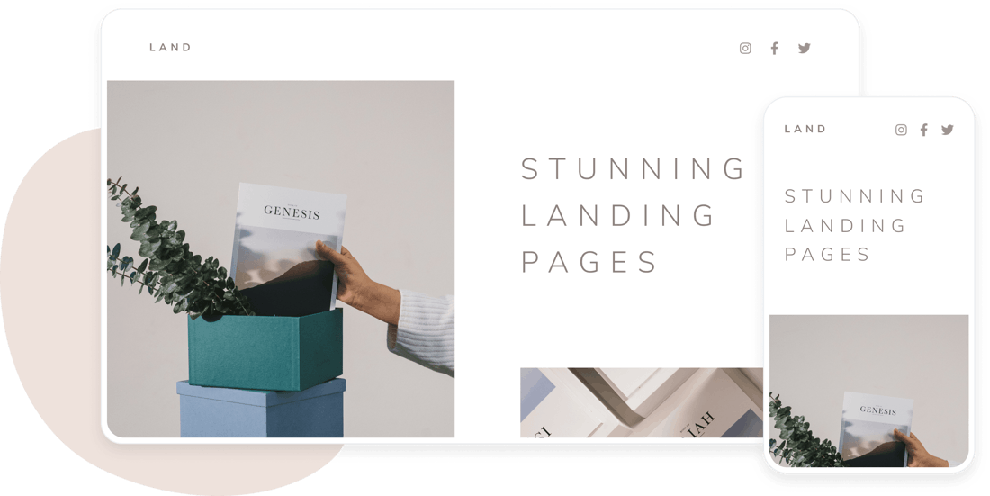 stunning landing pages